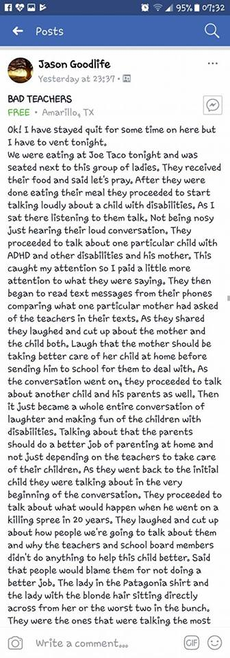 teachers mocked students with disabilities