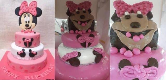 Minnie mouse cake fail