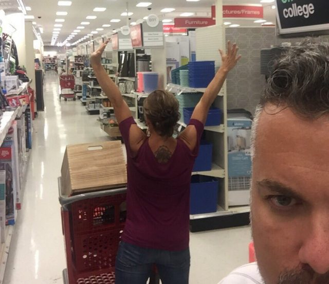 drunk target shopping