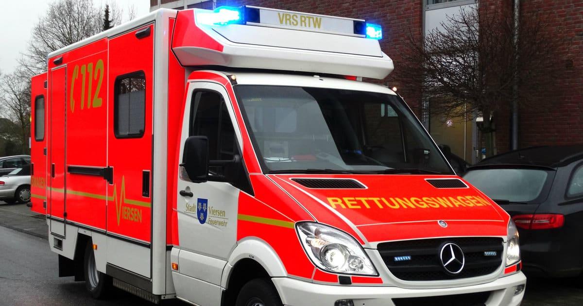 german ambulance road rage