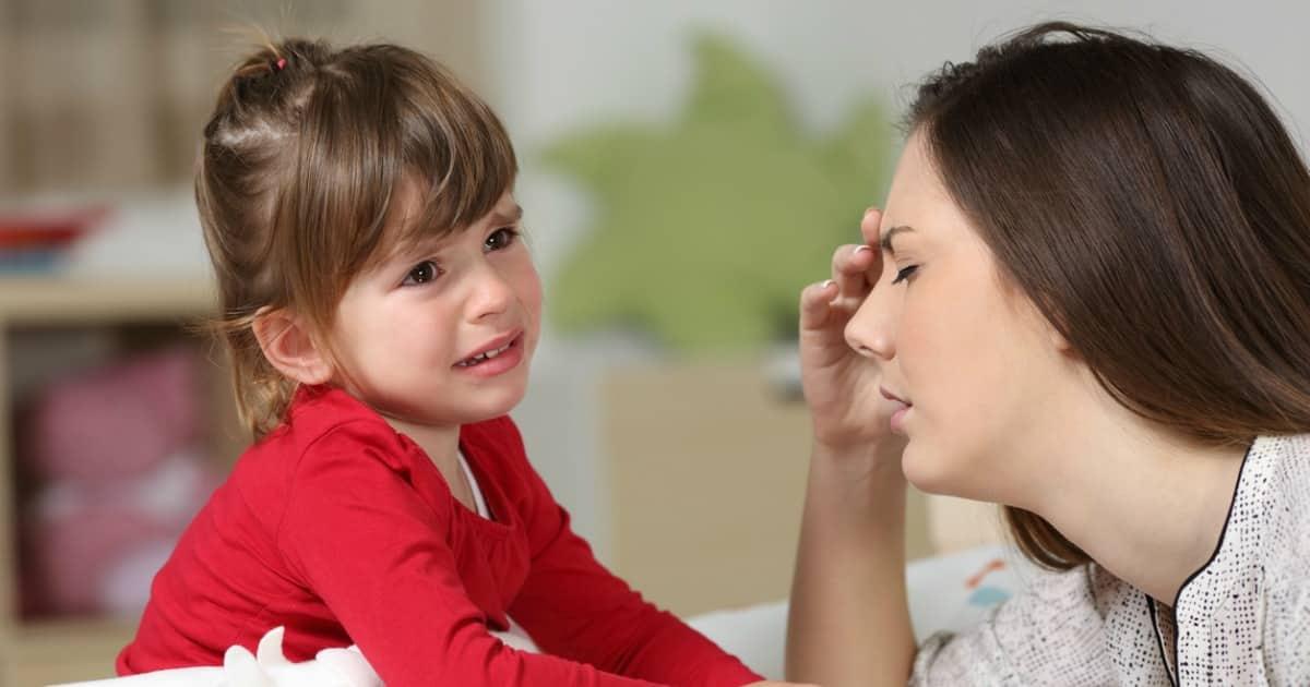 stressed mom toddler