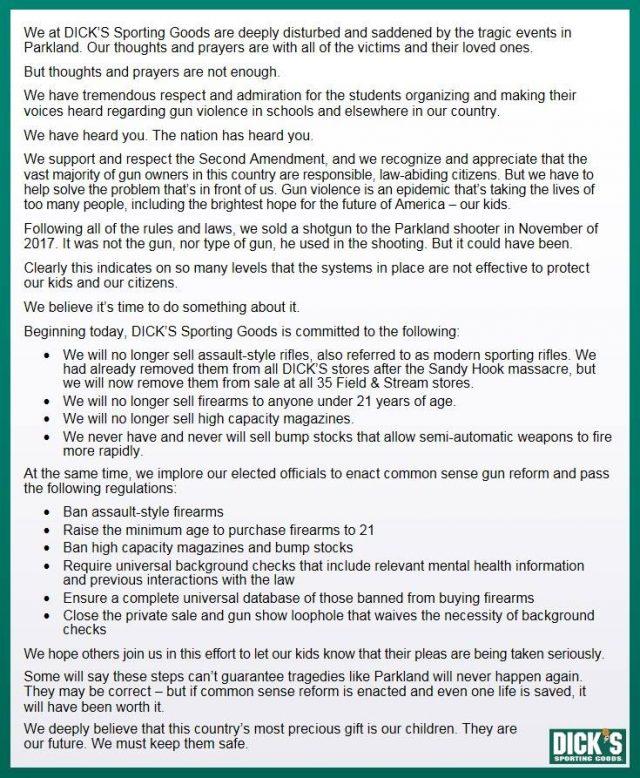 Statement on Gun Violence