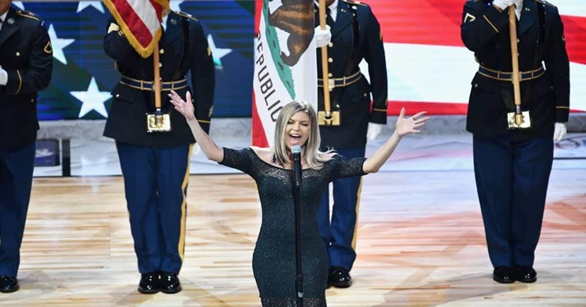 Fergie National Anthem was Something to Behold, and Not in ... Fergie National Anthem