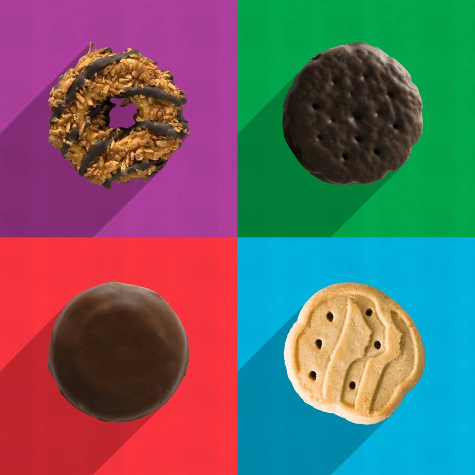 girl scout sold cookies