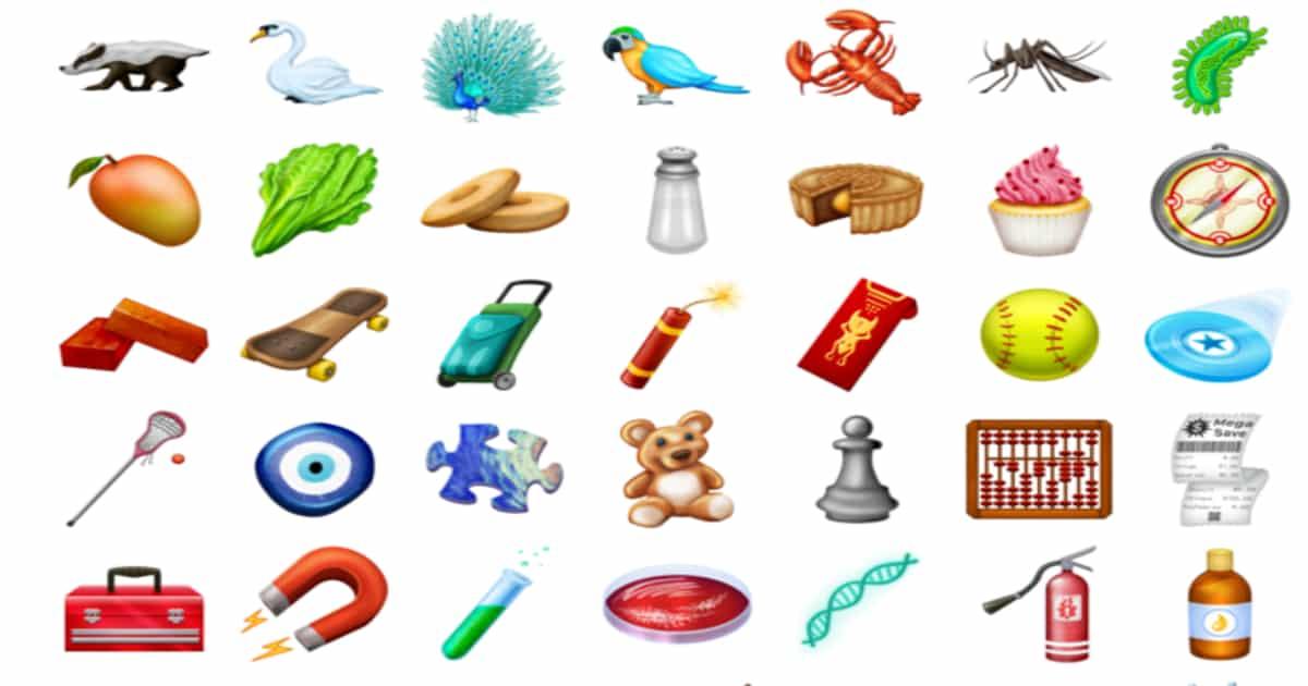 new 2018 emojis