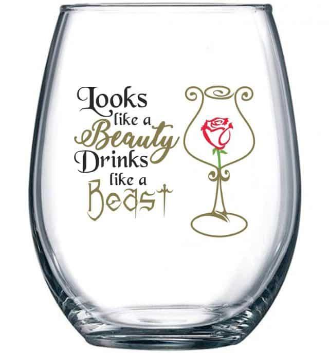disney princess wine glasses