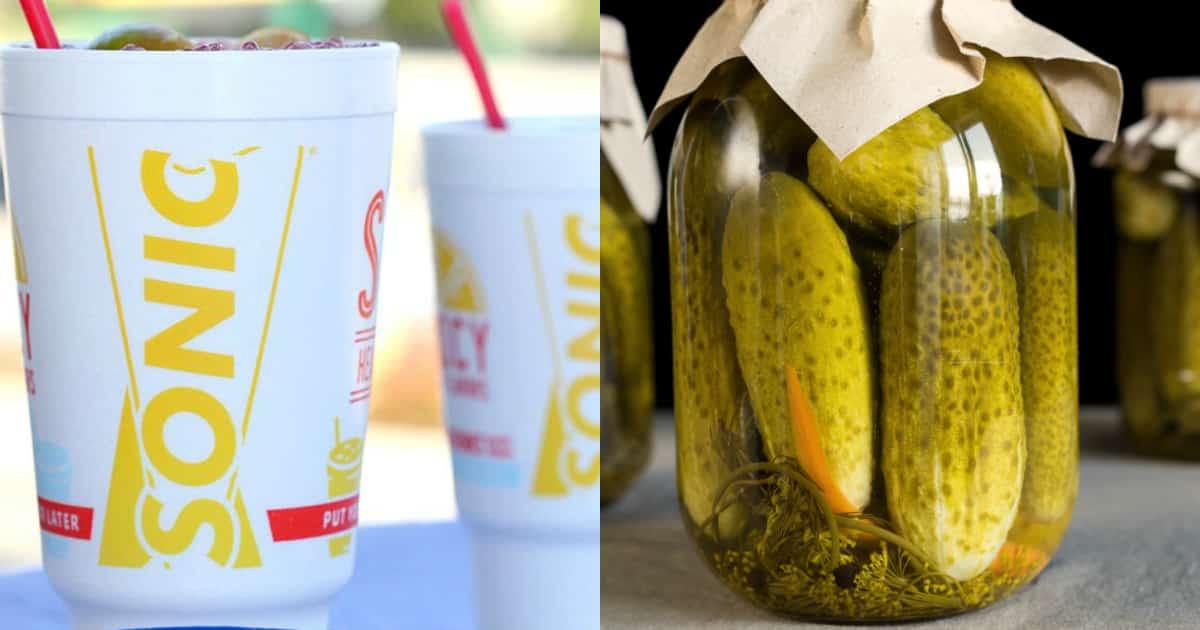 pickle juice slushes