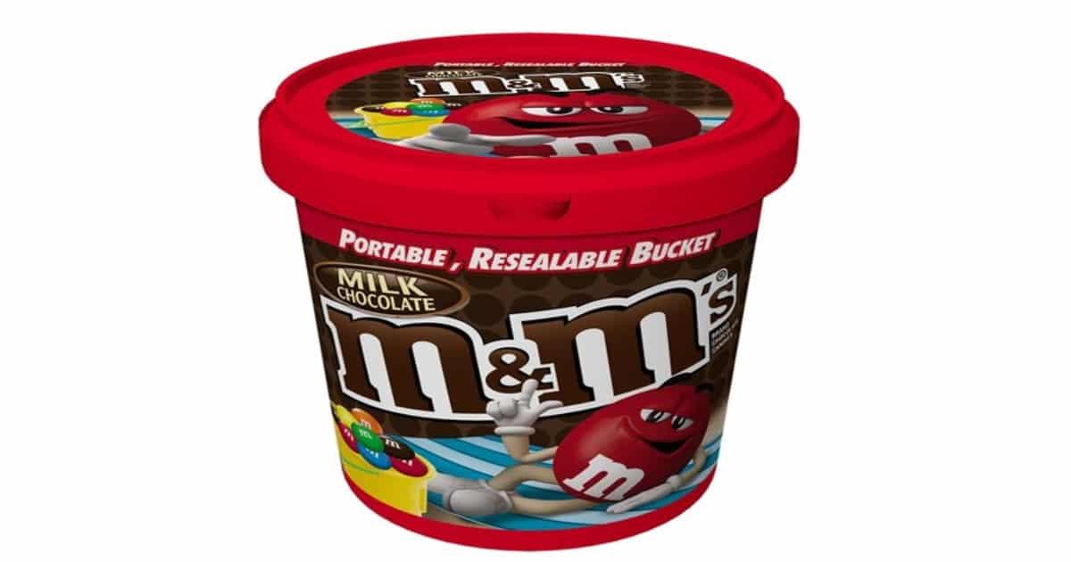 bucket of chocolate