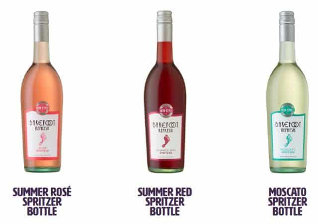 barefoot wine spritzers