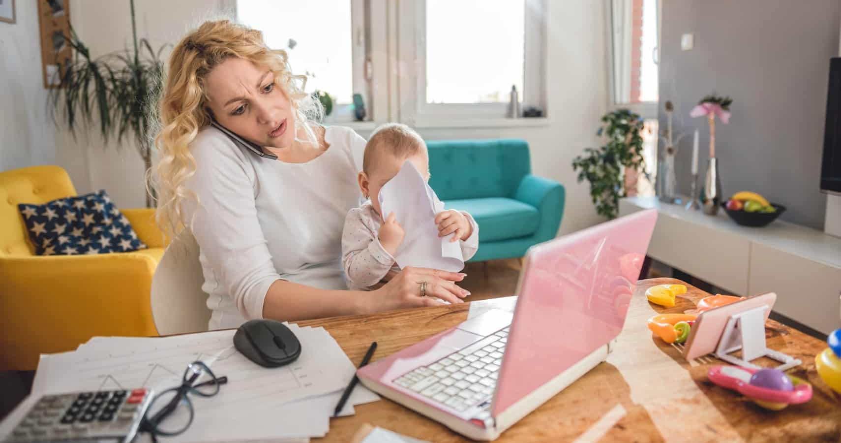 work-from-home mom