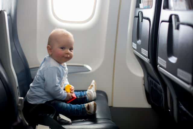 baby on the plane