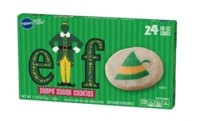 elf-themed sugar cookie dough