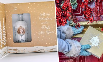 christmas card gin