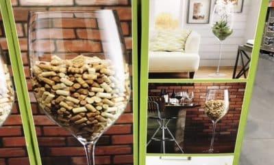 4-foot tall wine glass