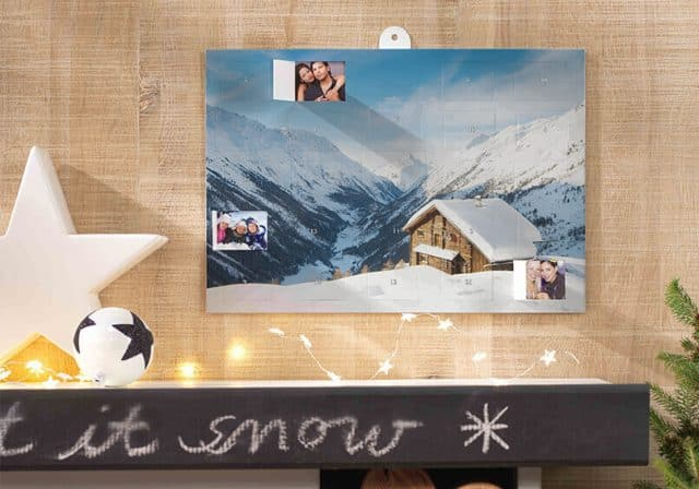 personalized photo advent calendar