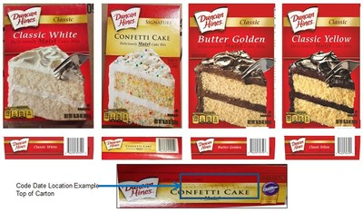 Cake Mix recall flavors