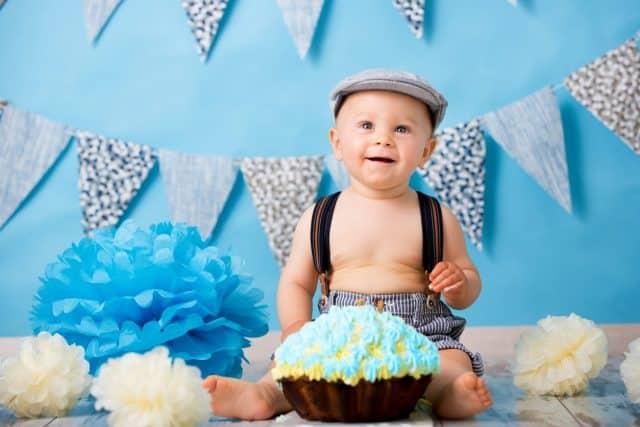 baby boy celebrating birthday