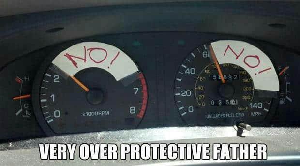 Car, Speedometer, Overprotective Dad