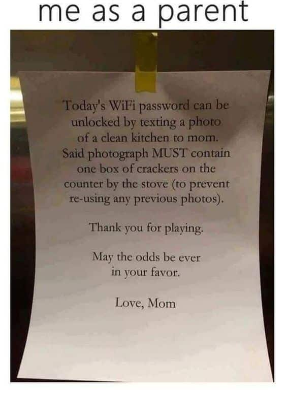 WiFi Password, Clean House