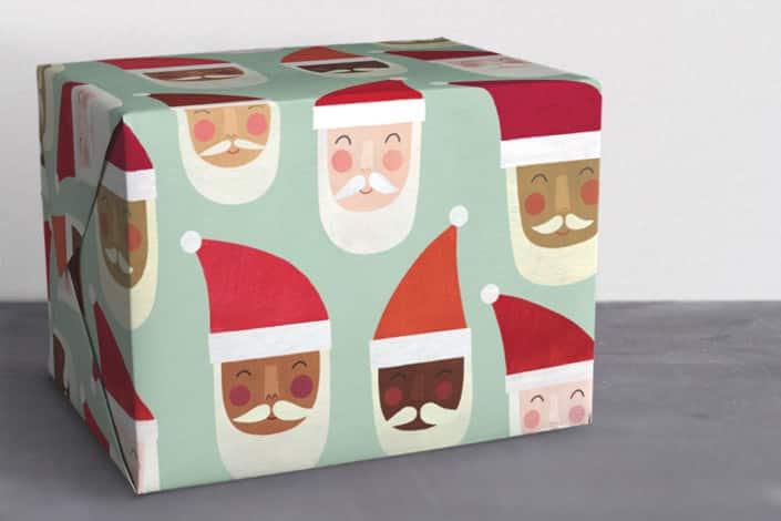 santa wrapping paper
