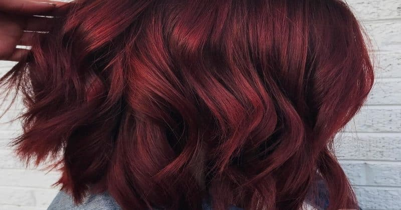 red wine hair