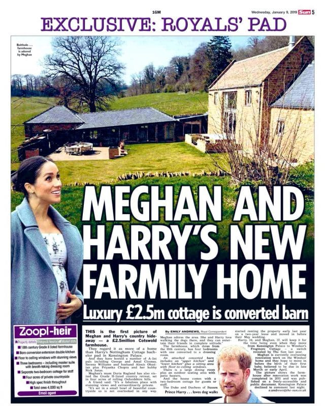 Prince Harry and Meghan cottage
