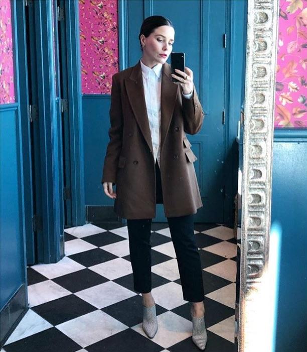 Most Popular Baby Names 2018 Sophia Bush Outfit Selfie Instagram