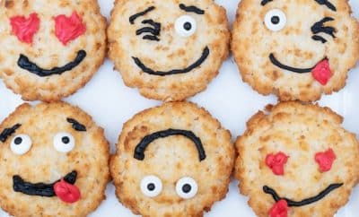 Pinterest Worthy Kids School Snacks Ideas Coconut Macaroon Emoji Faces