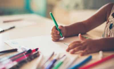 child coloring kindergarten