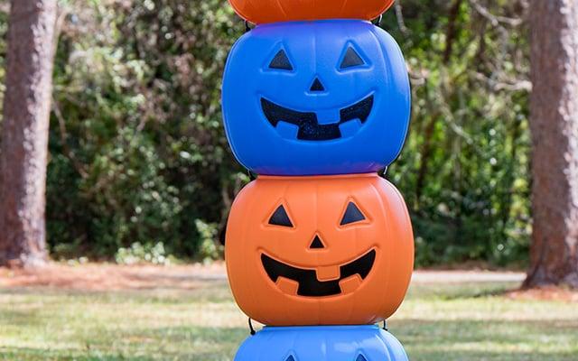 Halloween Autism Blue Pumpkin