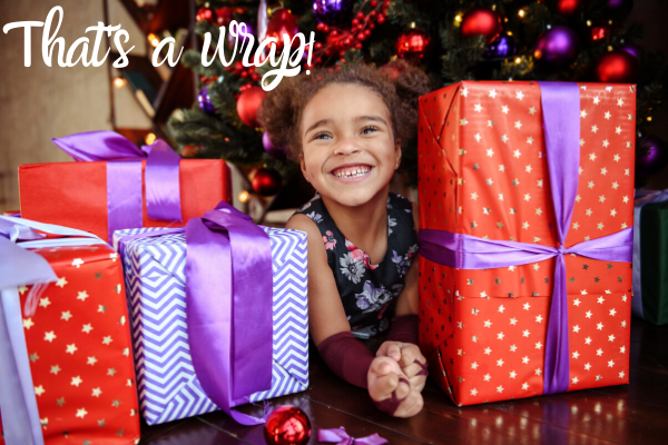 Funny Christmas Caption For Moms: That's a Wrap