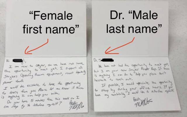 doctor gender bias