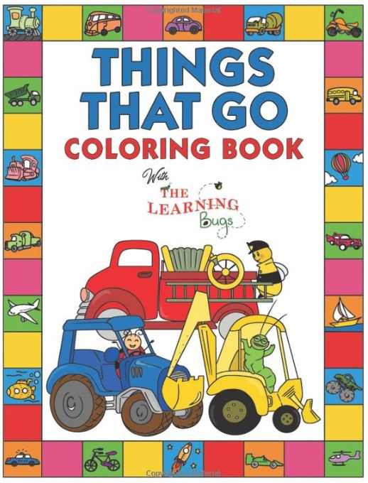 best vehicle coloring book